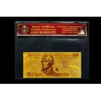 Wholesale USA Gold Banknote 10Dollars 24k Pure Gold Selling Coming Chrismas Day from china suppliers