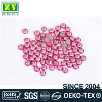 Wholesale Round Shape Rimmed Rhinestones Glass / Alloy Material 12 - 14 Facets from china suppliers
