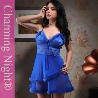 Buy cheap Fashionable Nylon Good Stretch Sexy Lingerie Babydoll Dress With Double Fur Skirt from Wholesalers