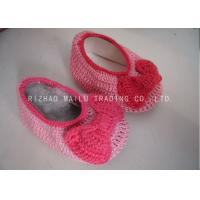 Wholesale Knot Seam Binding Baby Girls Shoes Milk Cotton Pink Knitted Shoes For Babies from china suppliers