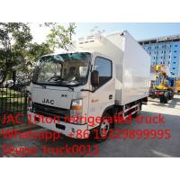 China famous brand JAC Brand 5tons Refrigerator Freezer for sale, factory JAC 4*2 LHD sale cold room truck for sale