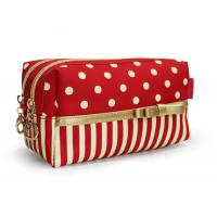 Wholesale Red Cotton Womens Travel Cosmetic Bags Cosmetic Handbags Fashionable from china suppliers