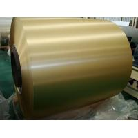 China Brush Finish Gold Color Coated Aluminum Coil With High Corrosion Resistance on sale
