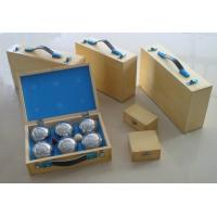 China boules/petanque wooden box,can be print/hot stamping logo,wholesale boule,retail petanque on sale