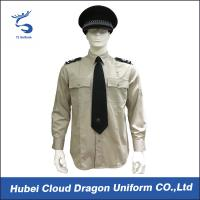 Buy cheap Lightweight Security Guard Shirts Long Sleeves With Adjustable Cuffs , Logo Printed from Wholesalers