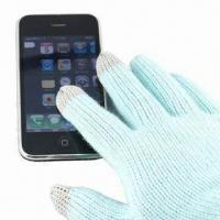 Wholesale Touch Gloves for I phone, Made of 100% Acrylic, Available in Various Colors from china suppliers
