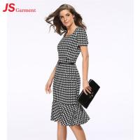 Wholesale Slim Package Hip Elegant Office Dresses Fishtail Evening Pencil With Free Belt from china suppliers