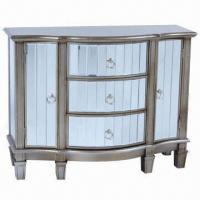 China Cabinet/Antique Furniture with 3 Big Drawers, Made of Solid Wood and Glass on sale