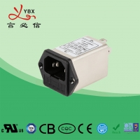 Wholesale 10A 120V 250VAC EMI Power Filter / Electrical Power Line Signal Filter from china suppliers