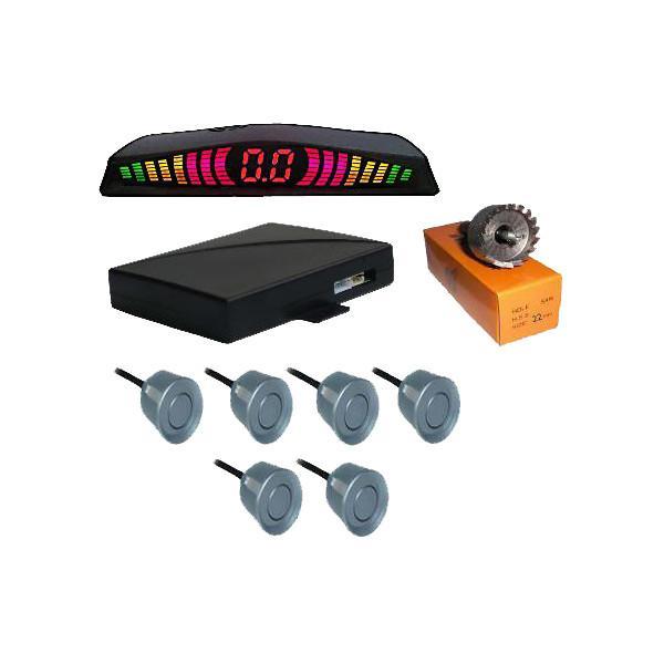 Quality 6 Sensors System Digital Tube Rainbow Led Display Parking Sensor Car Electronics Products for sale