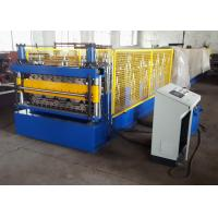 China 2 Layer Metal Roof Roll Forming Machine , Steel Trapezoidal Sheet Roll Forming Equipment on sale