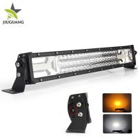 Wholesale 12V 3 Row warning  4X4 Off road led light bar Flashing 24 Volt 22 Inch for  Car network from china suppliers