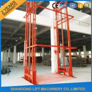 Lead Rail Hydraulic Heavy Duty Elevator Lift Equipment Outdoor 200mm Pit Depth