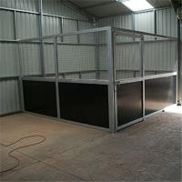 Wholesale High Effective Customized Horse Stable Box Horse Stall Indoors With Side Door from china suppliers