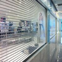 China 100% clear polycarbonate roller shutter door / commercial shopfront PC rolling shutter door on sale