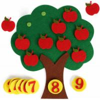China Non Toxic Kids Learning Toys Felt Apple Trees With Cute And Colorful Design on sale
