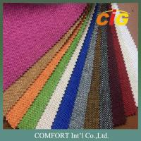 China 160cm Home Textile Fabric , 100% Polyester Woven Imitating Linen Sofa Fabric on sale