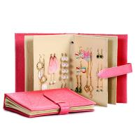 Wholesale Earrings Holder Book Fancy Jewelry Box Foldable For Earrings Storage from china suppliers