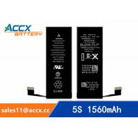 Wholesale ACCX brand new high quality li-polymer internal mobile phone battery for IPhone 5S with high capacity of 1560mAh 3.8V from china suppliers