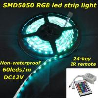 Wholesale DC12V RGB 14.4W/m waterproof IP65 60led/m led strip light from china suppliers