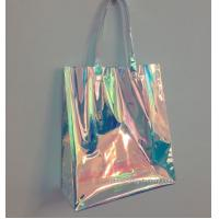 Wholesale Rainbow Laser Hologram Travel Cosmetic Handbag Rainbow Laser PVC Tote Bag Rainbow Laser Shoulder Bag from china suppliers
