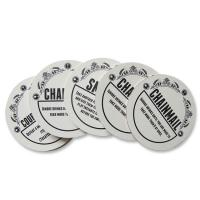 Wholesale Waterproof Promotional Drink Coasters Round Shape With ISO FDA Approved from china suppliers