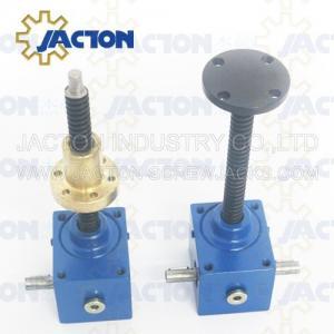 China Worm gear automatic lifting jack 30 ton mechanical steel jack Self-locking stability ball screw jack on sale