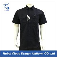 Buy cheap Custom Design Black Security Guard Shirts , Tactical Work Shirt For Duty from Wholesalers
