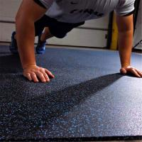 Long service life rubber flooring tiles with color speckles for fitness facility
