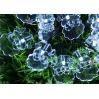 Wholesale Santa Solar LED String Lights , 4.8M White / Multicolor Xmas Tree Lights from china suppliers