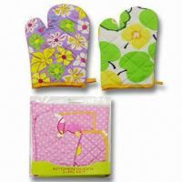 Wholesale Oven Gloves, Made of 100% Cotton, Various Designs are Available from china suppliers