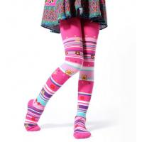 Wholesale Pink Children's Cotton Tights , Polyester Cotton Spandex Leggings from china suppliers