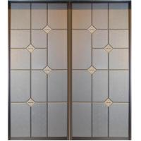 China Custom Leather Upholstered Doors For Wardrobe, Interior Sliding Closet Door For Kitchen on sale