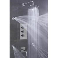 Wholesale Concealed 3 Way Thermostatic Shower Valve With High / Low Water Pressure Shower Heads from china suppliers