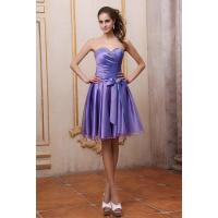 Wholesale New Fashion Strapless Sweetheart Satin And Organza Ruffle Purple Evening Prom Dresses With Beaded Sash Online Sale Shop from china suppliers