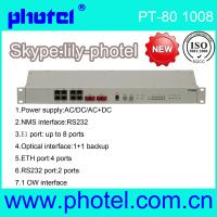 Buy cheap 8E1+4 fast Ethernet to fiber optical PDH converter modem from wholesalers