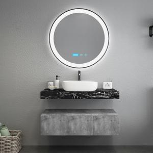 Wholesale Black Marble Countertops Unique Bathroom Vanities , Touch Mirror Bathroom Sink Vanity Unit from china suppliers