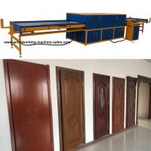 Cabinet door skin PVC foil laminating vacuum heating vacuum membrane press machine