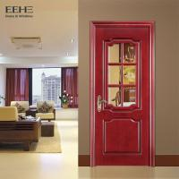 Wholesale Rural Hotel Solid Wood Interior Doors With Glass High Temperature Resistant from china suppliers
