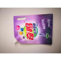 China Colorful Printed Spout Pouch Portable For Packing Laundry Detergent Liquid on sale