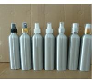 Wholesale 300ml aluminium bottles with hot stamping caps, plastic spray pump aluminium bottles from china suppliers