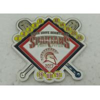 Buy cheap Die Stamped Memorial Metal Religious Lapel Pins / Zinc Alloy Base Ball Sports from wholesalers