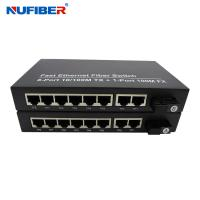 Wholesale FCC Single mode Fiber Ethernet Switch DC5V 2A 8 Rj45 Port Switch from china suppliers