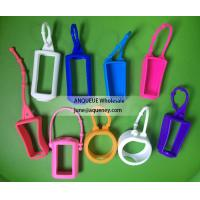 Wholesale NEW shape silicone hand sanitizer holder, hand sanitizer case from china suppliers