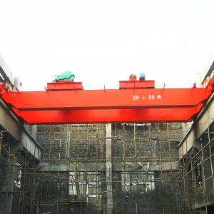 Wholesale 40M/Min Trolley A5 Warehouse Double Girder Overhead Crane from china suppliers