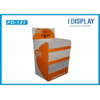 Buy cheap Colorful Innovative Retail Cardboard Floor Displays Stand With UV Coating from Wholesalers