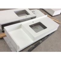 China Pure White Kitchen Quartz Stone Countertops And Bathroom Vanity Tops Tampa on sale