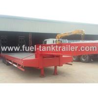 Wholesale Red 3 Axle Heavy Duty Trailer , Low Bed Trailer Truck 30T Loading Weight from china suppliers