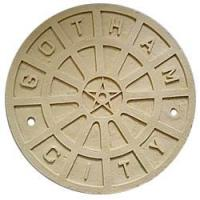 Wholesale Batman Begins Gotham City Manhole Cover Replica Prop Unpainted from china suppliers