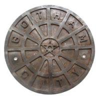 Wholesale Batman Begins Gotham City Manhole Cover Painted With An Array Of Metallic Colours from china suppliers
